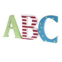 ABC Wooden Painted Letters
