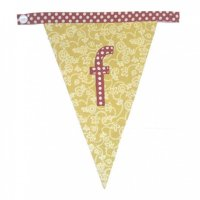Floral Alphabet Letter Bunting from Bombay Duck: F
