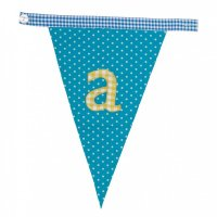 Gingham Alphabet Letter Bunting from Bombay Duck: A
