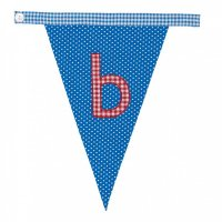 Gingham Alphabet Letter Bunting from Bombay Duck: B