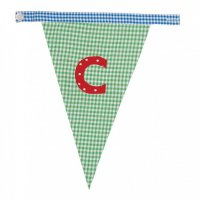 Gingham Alphabet Letter Bunting from Bombay Duck: C