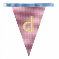 Gingham Alphabet Letter Bunting from Bombay Duck: D