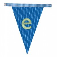 Gingham Alphabet Letter Bunting from Bombay Duck: E