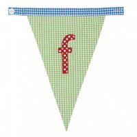 Gingham Alphabet Letter Bunting from Bombay Duck: F