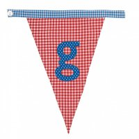 Gingham Alphabet Letter Bunting from Bombay Duck: G