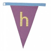 Gingham Alphabet Letter Bunting from Bombay Duck: H
