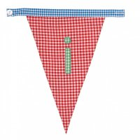Gingham Alphabet Letter Bunting from Bombay Duck: I