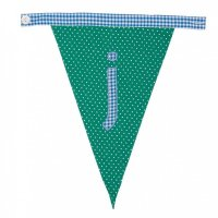 Gingham Alphabet Letter Bunting from Bombay Duck: J