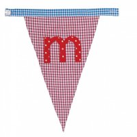 Gingham Alphabet Letter Bunting from Bombay Duck: M