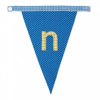 Gingham Alphabet Letter Bunting from Bombay Duck: N
