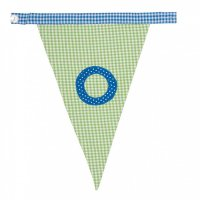 Gingham Alphabet Letter Bunting from Bombay Duck: O