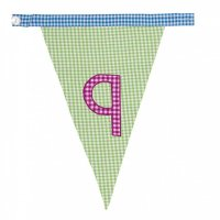 Gingham Alphabet Letter Bunting from Bombay Duck: Q