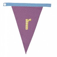 Gingham Alphabet Letter Bunting from Bombay Duck: R