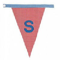 Gingham Alphabet Letter Bunting from Bombay Duck: S