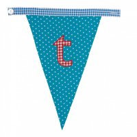 Gingham Alphabet Letter Bunting from Bombay Duck: T