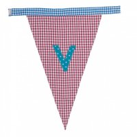 Gingham Alphabet Letter Bunting from Bombay Duck: V
