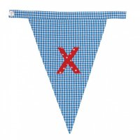 Gingham Alphabet Letter Bunting from Bombay Duck: X
