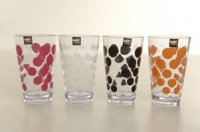 set of 4 dotty tumblers from Zalk