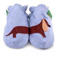 Blue Sausage Dog Soft Baby Shoes