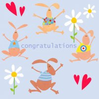 Congratulations Greetings Card - Blue