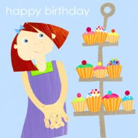 Greeting Card - Cupcakes