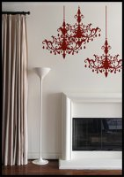 Chandelier Wall Decals in Raspberry by Blik