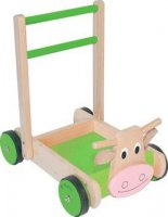 Cow Baby Walker & Push Along with Bricks