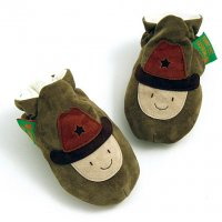 khaki cowboy soft baby shoes