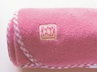 Luxury Fleece Blanket in Dark Pink