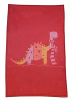 Large Niki Blanket from David Fusseneger - Dinosaur in Red