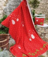 Large Lilli Blanket by David Fussenegger - Red Toadstool