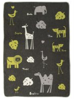 Large Juwel Blanket by David Fussenegger - Animal Names