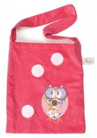 Book bag from Cocoon Couture - Dreamy Owl on Pink