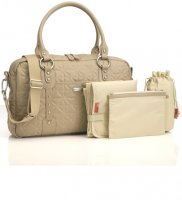 Storksak Elizabeth Quilted Changing Bag in Fawn