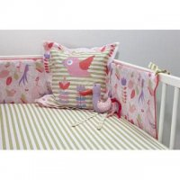 Cot Bumper & Sheet Set in Tweet Tweet from Ella & Otto