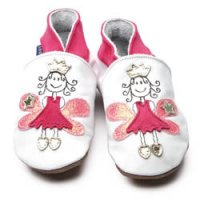 Fuschia Fairy Princess Leather Baby Shoes