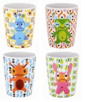 Set of 4 Monster Cups