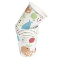 set of 6 fruit salad paper cups