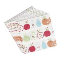 set of 20 fruit salad napkins