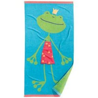 Frog bath towel from Haba