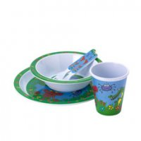 hungry jungle 5 piece melamine set