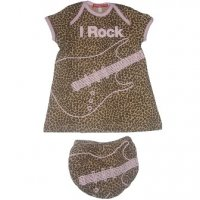 'I Rock' Leopard Print Dress & Pants