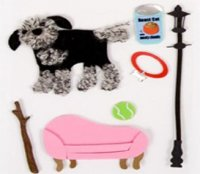 Clippykit Sticker Kit Bits - Ted the Dog