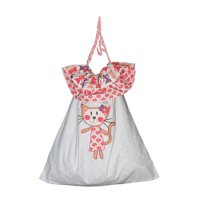 Reversible Laundry Bag in Kitty print from Cloud Cuckoo
