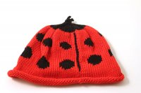 Merry Berry Knitted Baby Hat - Ladybird