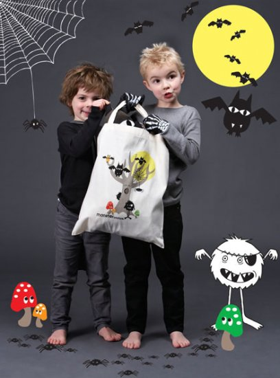 Spooky Forest Library Bag - Click Image to Close