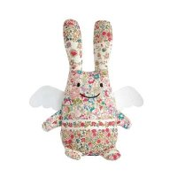 Large Angel Rabbit (Ange Lapin) in Liberty Print from Trousslier