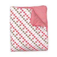 Cot Quilt & Playmat in Lollipop Tearose from Ella & Otto