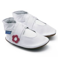 White Mary Jane Leather Baby Shoes