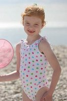 Dotty Frilled Swimsuit from Mitty James